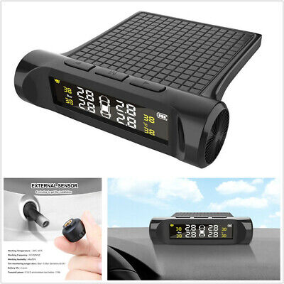 Battery Digital LCD Display Car Tyre Pressure Monitor System w/ External Sensor