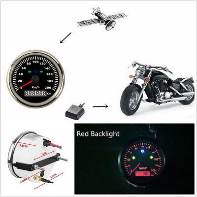 "Universal 3 3/8""LED Motorbike Electronic GPS Speedometer Odometer 200km/h 12/24V"