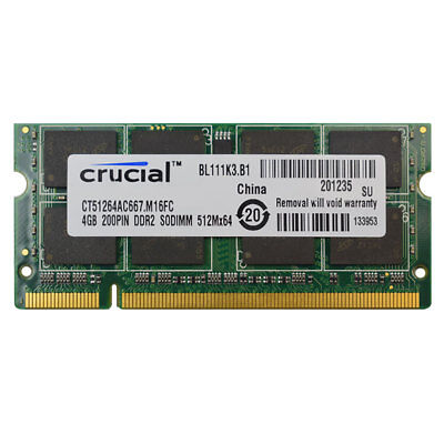 200-pin Ddr2 Sodimm-speicher (New Crucial 4GB DDR2 PC2-5300 667MHZ 200pin Laptop Memory Sodimm Speicher Ram)