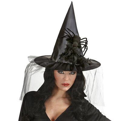 alloween Hexen Schleier Spinne Hut Spitzhut Fest Kostüm 9395 (Halloween Spinne Hut)