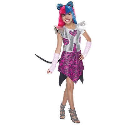 KINDER MONSTER HIGH CATTY NOIR KOSTÜM  Halloween Karneval Kleid Katze Tier Party