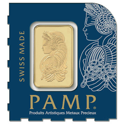 1 gram Gold Bar - PAMP Suisse Lady Fortuna .9999 Fine (In Assay from
