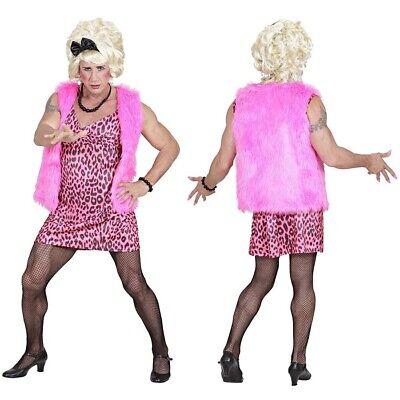 DRAG QUEEN DIVA KOSTÜM 80er 90er Jahre Pinkes - Herren Leopard Kostüm