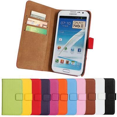 Best For Samsung Galaxy Note 2 N7100 Genuine Leather Wallet Case Protector