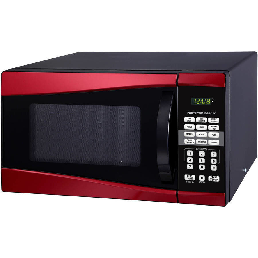 Hamilton Beach 0.9 cu ft 900W Microwave, Red