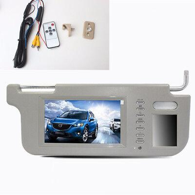 "7"" Gray Car Sun Visor Mirror Screen LCD Monitor For DVD/TV Rearview Camera Right"