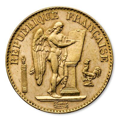 SPECIAL PRICE! France Gold 20 Francs Lucky Angel Avg Circ - SKU #169397