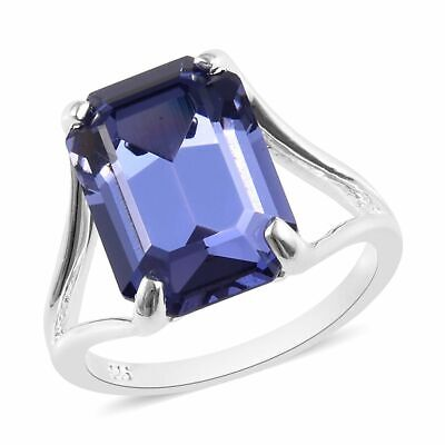 J FRANCIS Solitaire Ring Made with Swarovski® Crystal Sterling Silver , 3 Ct