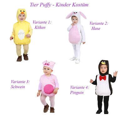 TIER KOSTÜM HUT KINDER Karneval Fasching Küken Hase Schwein Pinguin Puffy Pu11 ()