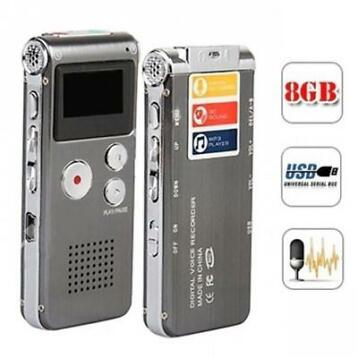 Multifunctionele Voice Memo Audio Recorder 8GB MP3 USB Stick