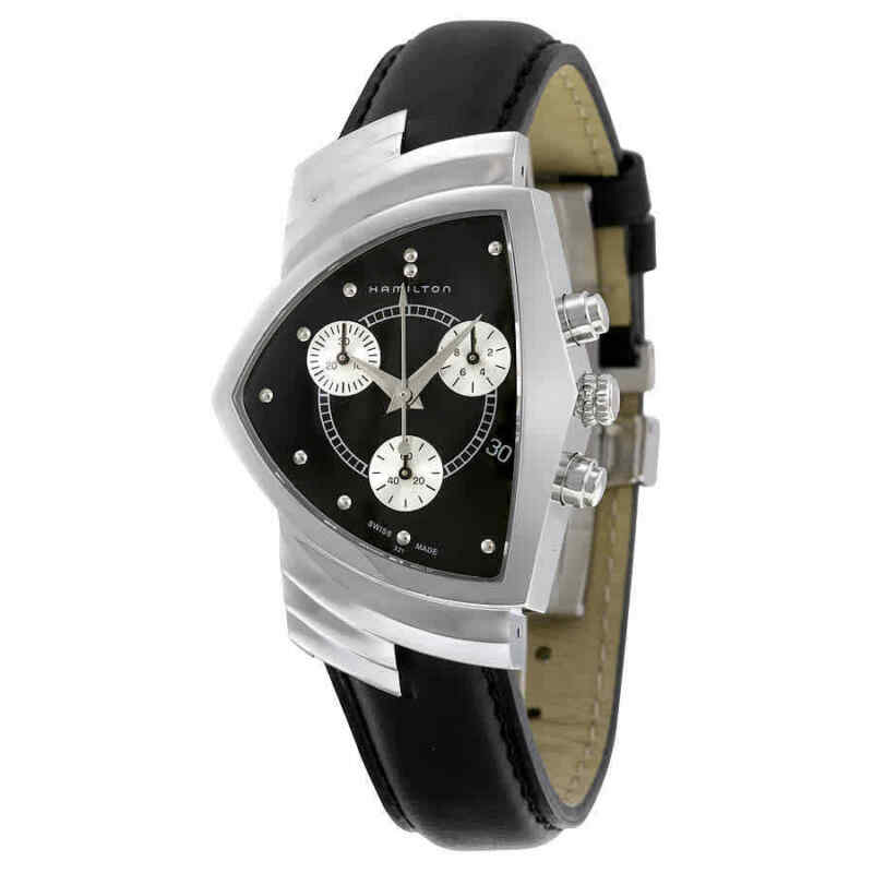 Hamilton-Ventura-Chrono-Black-Dial-Shield-Shaped-Men-Watch-H24412732
