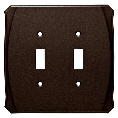 Double Switch Plate Bronze Brainerd W34475