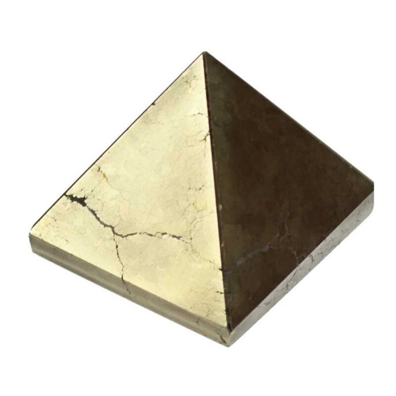Pyrite Gemstone Crystal Pyramid 25-30mm Chakra Reiki Crystal Healing Stone