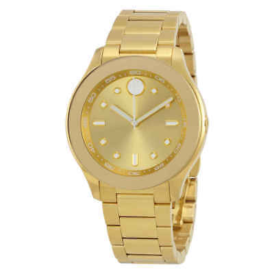 Movado Bold Gold Dial Yellow Gold Ion-plated Ladies Watch 3600416