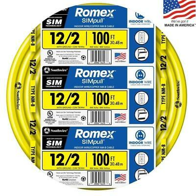Southwire Romex Simpull 100-ft 12-2 Non-metallic Wire By-the-roll 28828228 New