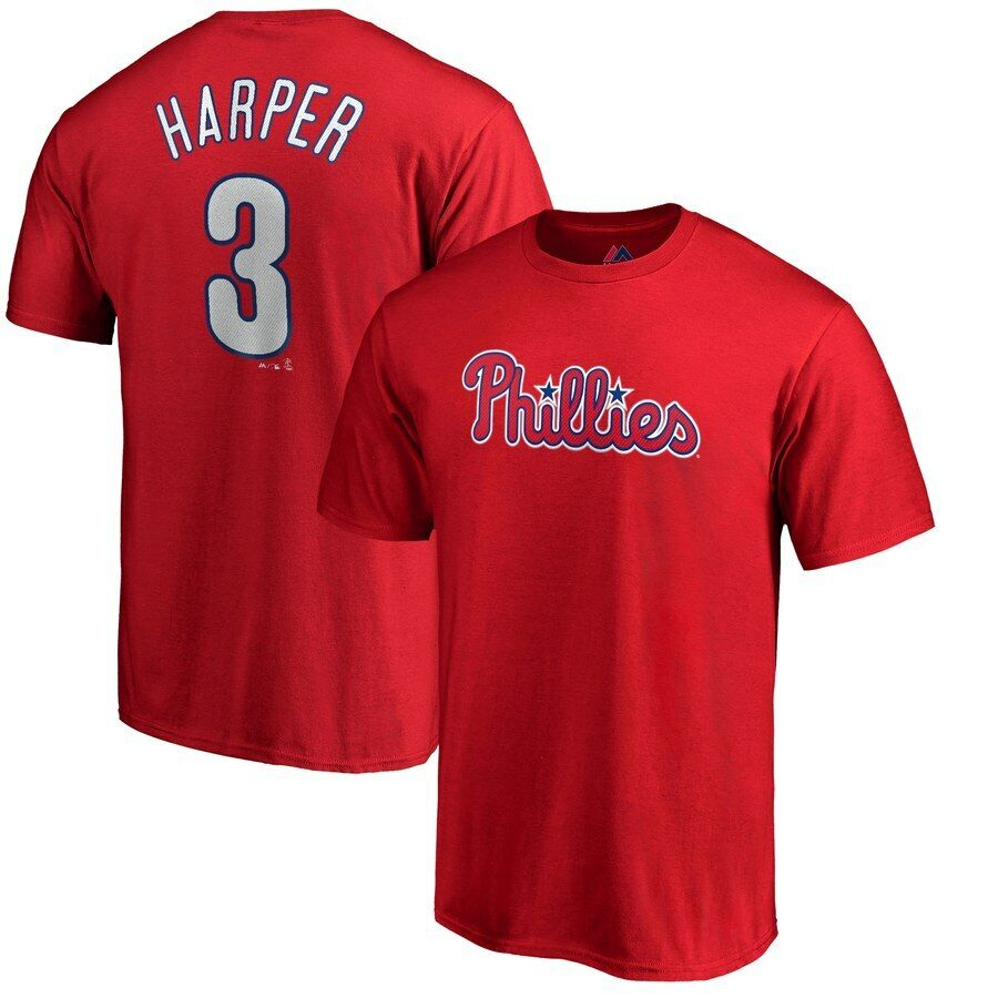 Youth Philadelphia Phillies Bryce Harper Majestic Red Jersey