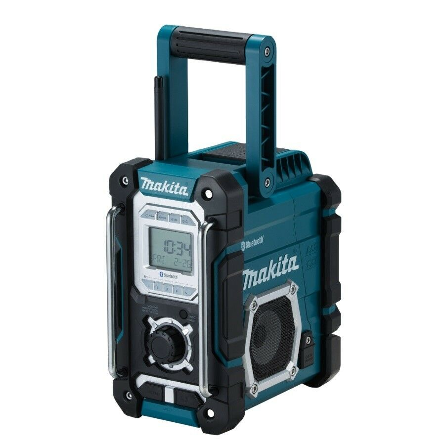 Makita Akku Baustellenradio DMR108 FM Bluetooth AUX USB Spritzschutz