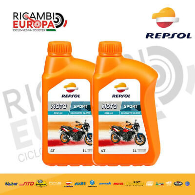 2Lt Aceite Motor REPSOL Manillar Sintético Sport 10W40 2 Litros 4T 4...