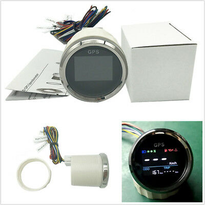 12/24V 52mm Motorcycles Scooter LCD GPS Speedometer Digital Gauge 0~999 MPH Km/h