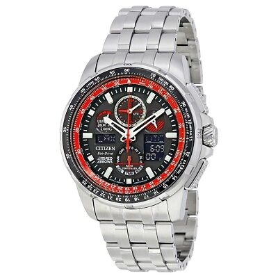 Citizen Eco-Drive Men's JY8059-57E Skyhawk Red Arrow A-T Black Dial 47mm Watch
