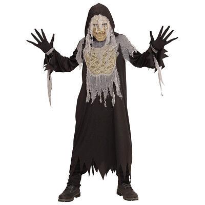 MUMIEN KOSTÜM & MASKE KINDER Halloween Karneval Umhang Zombie Jungen Party  0785