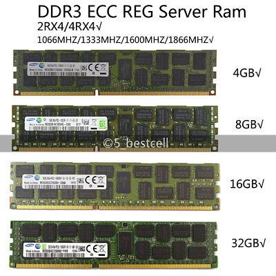 Samsung 4GB/8GB/16GB/32GB/LR DDR3 1333/1600MHZ ECC REG Registered Server ram LOT