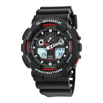 Casio G-Shock Black Resin Strap Men's Watch GA100-1A4