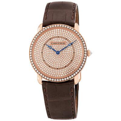 Cartier Ronde Louis 18K Pink Gold Diamond Dial Unisex Watch WR007008