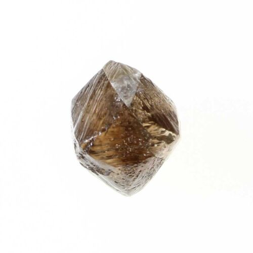 Octahedron Shape 0.89 Carat Light Brown Color SI3 Clarity Natural Rough Diamond