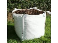 Bulk bags of mulch bark chippings