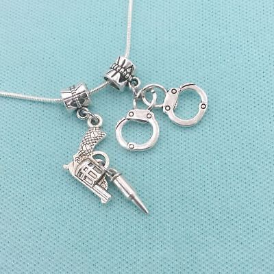 Partner In Crimes Charm Or Pendant Fit Bracelet Or Necklace American Or European