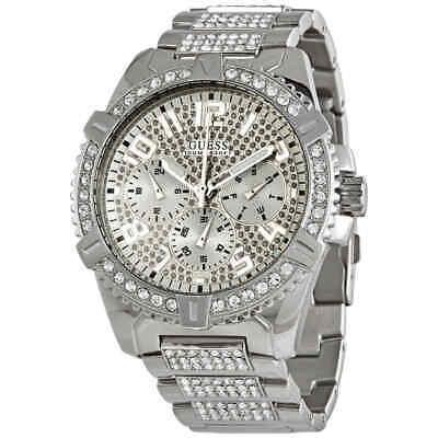Guess Frontier Quartz Crystal Silver Dial Men's Watch W0799G1