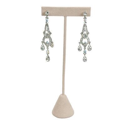 Lot Of 3 Beige Velvet Earring Display Stand Earring Tree Earring Stand Deal