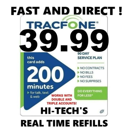 TRACFONE $39.99 DIRECT Refill 200 Minutes & 60+ BONUS CODE* 🔥 GET IT TODAY 🔥