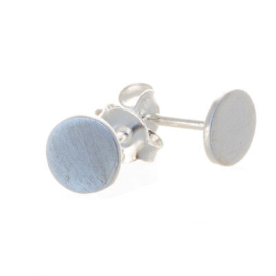 925 Silber Ohrstecker rund, matt 6 mm Durchmesser