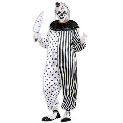 KILLER CLOWN KOSTÜM # Halloween Party Karneval Mörder Horror Herren Overall 0161