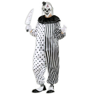 KILLER CLOWN KOSTÜM # Halloween Party Karneval Mörder Horror Herren Overall - Herr Groß Kostüm
