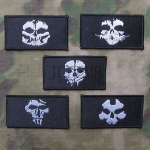 Call-Of-Duty-10-Ghosts-COD10-Morale-Military-Embroidery-Velcro-Patch-5-style