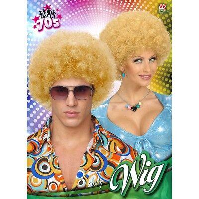 # Karneval 70er Jahre Hippie Damen Herren Kostüm Perücke 5978 (Blonde Afro-perücke Kostüm)