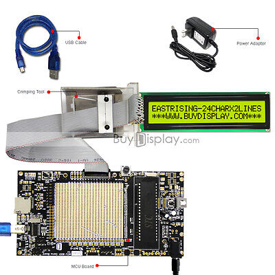 8051 Microcontroller Development Board Usb Programmer For 5v 24x2 Character Lcd