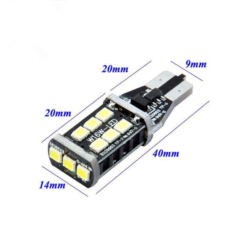 2 x T15 W16W 2835 LED SMD REVERSE Bulbs LIGHTS White BMW X5 E70 BMW X3 F25 GR