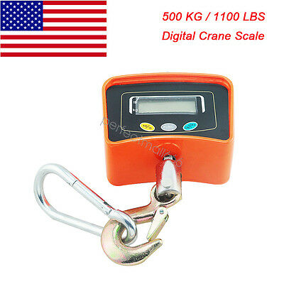 Us Ship 500kg1100lbs Digital Crane Scale Heavy Duty Hanging Scale Industrial