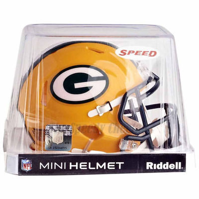 GREEN BAY PACKERS RIDDELL NFL MINI SPEED FOOTBALL HELMET - Green Bay Helmets