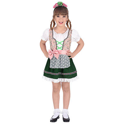 OKTOBERFEST BAYERIN KOSTÜM KINDER Karneval Fest Kleid Dirndl Tracht Mädchen 0692