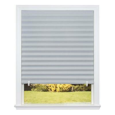 Redi Shade Grey Pleated Paper Room Darkening Block UV Light Protection Durable  Redi Shade Room