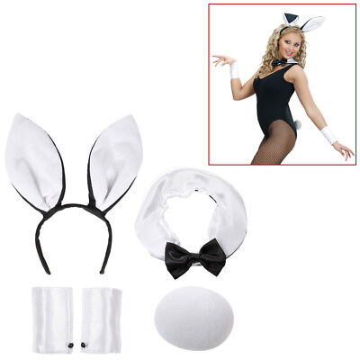SEXY DRESS UP SET BUNNY Hasenkostüm Hasen Ohren Fliege Schwanz Damen JGA Kostüm