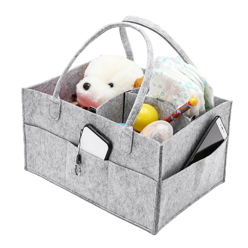 Baby Diaper Caddy Shower Basket Changing Mat Organizer For Diapers Baby Wipes US
