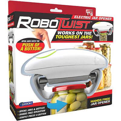 Robotwist Automatic Grip Hands Free Electric Jar Opener   Easy Touch Button New