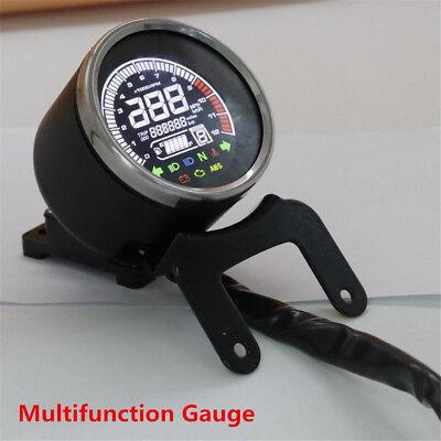 12V Universal Motorcycle Speedometer Odometer Water TEMP Fuel Level Gauge Meter