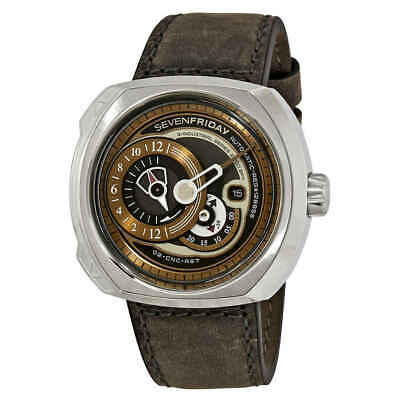 SevenFriday QSeries Brown Dial Automatic Mens Watch Q202